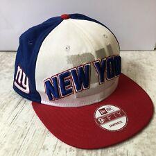 New York Giants NFL Bleu Blanc Rouge Snapback Hat Cap