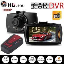 HD 1080P Car DVR Camera Video Recorder Dash Cam + GPS Radar Dectector V7 Red TE