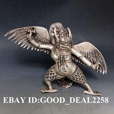 Oriental vintage Silver Copper Hand-carved  Leizhenzi  Statue  gd5755