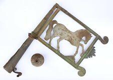 Antike Wetterfahne um 1800 Pferd Pferdemotiv