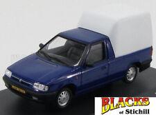 Abrex 1:43 Scale Skoda Felicia Pickup/Van Closed Back Blue & White Diecast Model