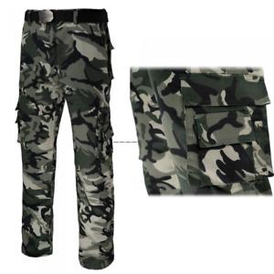 Arbeits Hose Sicherheitshose Feldhose Försterhose Tarnhose Camouflage Gr 44 - 64
