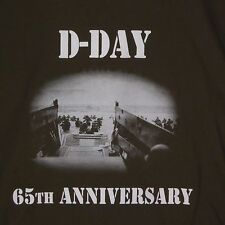 D-Day 65th Anniversary Army Green T-SHIRT Normandy  LARGE