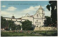 Postcard Near Oceanside CA Mission San Luis Rey California Street View Linen