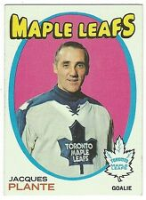 1971-72 TOPPS HOCKEY #10 JACQUES PLANTE - EX-/EX