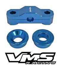 VMS RACING 2PC BILLET F+R SOLID SHIFTER BUSHINGS 99-00 HONDA CIVIC SI B16 BLUE