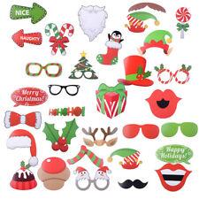 32stk Photo Booth Weihnachten Foto Verkleidung Christmas Foto Requisiten X-Mas