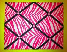 Black Zebra Damask French Memo Board Pink Photo Ribbon Board French Memory Board