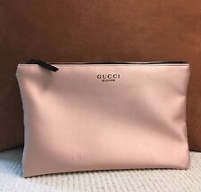 Brand New GUCCI Bloom Pink Satin Makeup Cosmetic Bag Floral Linning Pouch New
