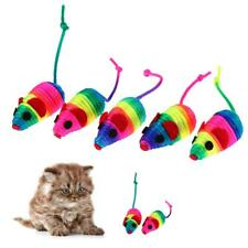 5pcs Colorful False Mouse Pet Cat Toys Squeaker Sound Toy Funny Playing Toys
