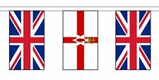 More details for 12th july 2021 ni northern ireland + union jack fabric flag bunting