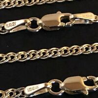 """14 k Solid Yellow Gold 2.40 mm Grand Nonna Chain Necklace 16"""",18"""",20"""",22"""",24"""""""
