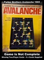Parker Brothers Avalanche 1965 The Swing Gate Game - Not Complete (All Marbles)