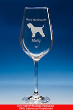 More details for wheaten terrier dog personalised engraved wine glass and box gift for dog lover