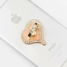 Universal 360 Rotating Finger Ring Stand Holder For Cell Phone - CRYSTAL HEART