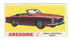 1961 Topps Sports Cars Card #58 GREGOIRE Sports Convertible