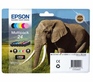 Genuine  Epson 24 Multipack T2428 Elephant Genuine Print Cartridges NO BOX