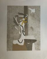 Beaudin André Lithographie originale signée 71 art abstrait abstraction abstract