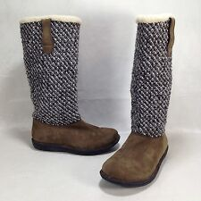 Keen Auburn Taupe Suede Knit Boots Sample Pair Women's sz 6