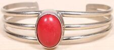Lovely Sterling Silver and Coral Bracelet 084A