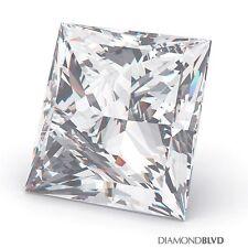 1.51 Carat E/SI1/Ex Cut Princess AGI Earth Mined Diamond 6.60x6.36x4.39mm