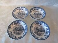 """(4) Johnson Brothers Coaching Scenes Berry Bowls * Hunting Country * 5"""" Diameter"""