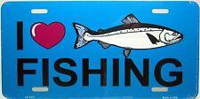Novelty License Plate I Love Fishing Auto Tag New aluminum car fishing 3872
