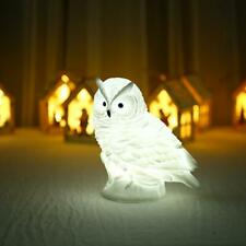 Owl-shaped LED Night Light Battery Operated Bedside Lamp Bedroom Home Decor