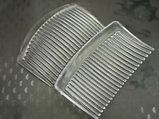 10 Clear Plastic Smooth Hair Clips Side Combs Pin 82X50mm for Ladies