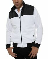 Kenneth Cole Mens Jacket White Black Size Small S Colorblocked Zipped $89 #252