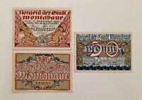 MONTABAUR NOTGELD 10,25,50 PFENNIG 1920 COMPLETE SET GERMANY BANKNOTE(S) (9980)