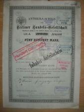 Berliner Handels - Gesellschaft  1879  Berlin    ING  BHF Bank