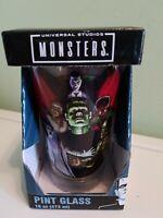 universal studios classic monster movie pint glass tumbler memorabilia horror