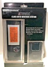 Living Solutions Atomic Clock with Weather Station