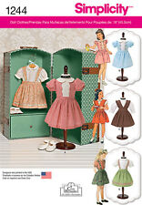 "Simplicity Pattern 1244 Vintage Styles Party & Play Clothes  for 18"" Dolls doll"