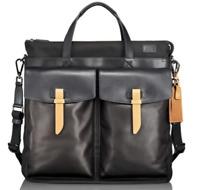 Tumi Santa Monica Whitfield Helmet Carry Bag Tote Nylon Black Leather $695 NEW