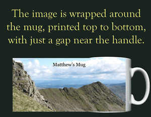 Striding Edge, Helvellyn, Lake District, Cumbria - Personalised Mug / Cup