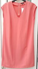 BNWT New Warehouse Coral Peach Salmon Pink Shift Tunic Short Mini Dress Size 8