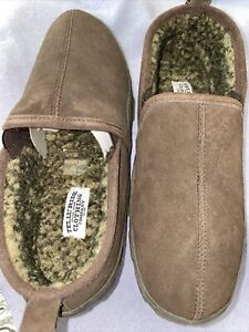 New Telluride Clothing Company Mens Brown Leather Slippers Size 12 M SKU#B984