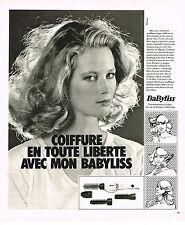 PUBLICITE ADVERTISING 044   1979   BABYLISS   accessoires cheveux