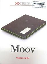 9253 MOOV TRAVEL MICROFIBRE SLIM DESIGN PASSPORT HOLDER CREDIT CARD WALLET BLACK