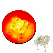 10 pcs flat top piranha Super Flux LED 5000 mcd Rouge