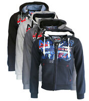 Felpa GEOGRAPHICAL NORWAY Getchup maglia maniche lunghe Uomo Zip Cappuccio WR652