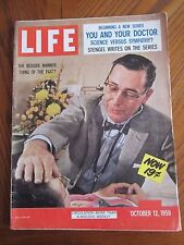 Life Magazine The Bedside Manner Thing of the Past October 1959