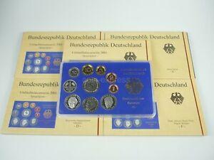 *** DM KMS DEUTSCHLAND 2001 A D F G J Polierte Platte PP Kursmünzensatz Germany