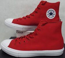 Hombre 12 Converse Ct 2 Hi Salsa Rojo Lona Zapatillas Baloncesto 150145C
