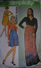 Simplicity  9709 sewing pattern vintage 1970s 70s dress wrap maxi mini