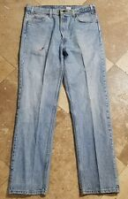 Levis 505 36x32 Light Wash Regular Fit Red Tab Jeans Pants Mens
