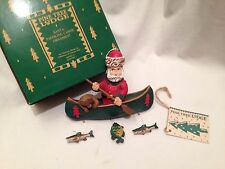 Midwest of Cannon Falls - Santa Paddling Canoe Ornament - Nib