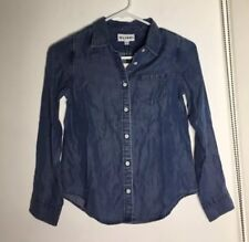 NWT GIRL'S Denim Blouse SIZE 10 Saks Fifth Avenue RETAIL $59